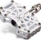 "TIOGA SPYDER PEDAL PAIR WHITE 280g light weight with pins 9/16"" Chromoly Axle"