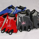 XXF CYCLING GLOVE SHORT HALF FINGER SPIDER SERIES MTB ROAD BIKE L GRAY RED BLUE