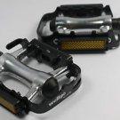 """WELLGO M248DU PEDALS 9/16"""" BLACK SILVER PAIR BMX MTB ROAD BIKE Aluminum NEW"""