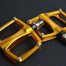 XPEDO TI TITANIUM AXLE PEDALS 193g PAIR CITY BIKE ROAD FIXED GEAR GOLD