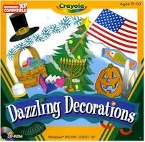 Crayola Dazzling Decorations PC-CD Graphics Ages 5-10 Win XP