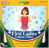 Crayola First Ladies Costume Maker Paper Dolls PC-CD Graphics Ages 6-12 Win XP/ Mac