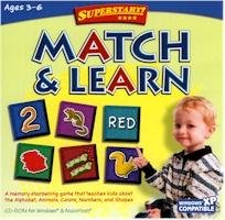 Match and Learn Shapes Colors Numbers Superstart Education Ages 3-6 PC-CD Win XP/ Mac