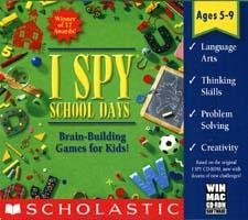 I Spy School Days Thinking Games PC-CD Ages 5-9 Win/ Mac