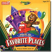 Crayola Favorite Places 3D Coloring Book Ages 3-7