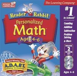 Reader Rabbit Math (2-CD Set) Ages 4-6