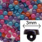 Bold Mix 3mm Tiny Shank Doll Buttons - 144 pieces