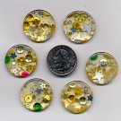 50 gold novelty big plastic 2 hole buttons 1 inch #P1