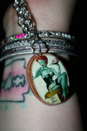 Zombie Pin up Necklace
