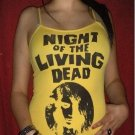 Womans Spaghetti Fitted Night Of The Living Dead Zombie Girl Horror Classic Retro Shirt/Top