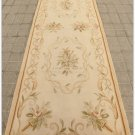 "8'2"" 2.5M RUNNER Aubusson Rug PASTEL ANTIQUE FRENCH Home Decor Stair Wool Carpet"