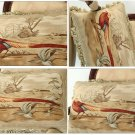 "A PAIR! 22X14"" PHEASANT Aubusson Pillow ANTIQUE FRENCH DECOR Decorative Cushion"