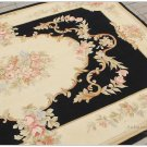 5X8 Aubusson Area Rug Shabby French Chic Home Decor Wool Carpet BLACK CREAM PINK