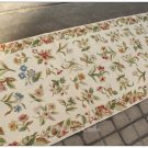 8' Runner SHABBY CREAM CHIC Aubusson Needlepoint Rug French Home Decor Carpet