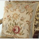 "16"" Blue Aubusson Pillow Wool Shabby French Chic Sofa Chair Bed Bench Cushion"