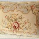 "22""X14"" Aubusson Pillow Shabby French Chic Sofa Chair Bedding Cushion BLUE CREAM"