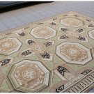 8X10 GEOMETRIC Aubusson Area Rug VINTAGE FRENCH DECOR Wool Home Carpet EXQUISITE