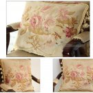 SET 3! SHABBY PINK CHIC Aubusson Rose Pillow French Sofa Bed Cottage Cushion