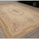 9x12 Aubusson Area Rug ANTIQUE FRENCH PASTEL Wool Handwoven Floor Mat Carpet NEW