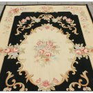 4X6 Aubusson Area Rug Shabby French Chic Home Decor Wool Carpet BLACK CREAM PINK