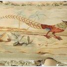 """22""""X14"""" PHEASANT Aubusson Pillow VELVET TASSEL FRINGE Tapestry Cushion Cover NEW"""
