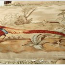 "22"" PHEASANT II Aubusson Tapestry Pillow Cover $600 Chair Sofa Bedding Decor NEW"
