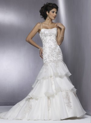 Stunning Lace Wedding Dress with Cap-sleeve JB0005
