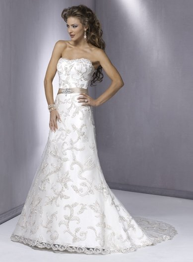 Stunning Natural Waist A-line  Lace Wedding Dress JB0028