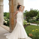 Stunning Cowl Back Sleeveless Mermaid Lace Wedding Dress MC0026