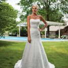 Stunning Strapless A-line Lace Wedding Dress MC0074