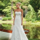 Beaded Empire Strapless Lace Wedding Dress MC0078