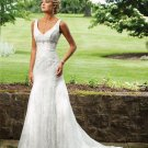 Stunning Beaded Sleeveless Lace Wedding Dress MC0081