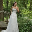 Stunning Strapless Lace Wedding Dress MC0112