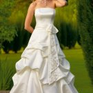 Gathered Strapless A-line Wedding Dress WN0001