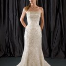 Scatter Beaded Strapless Mermaid Lace Wedding Dress WN0286