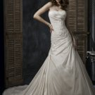 Asymmetrically Wraped Strapless A-line Wedding Dress WN0379