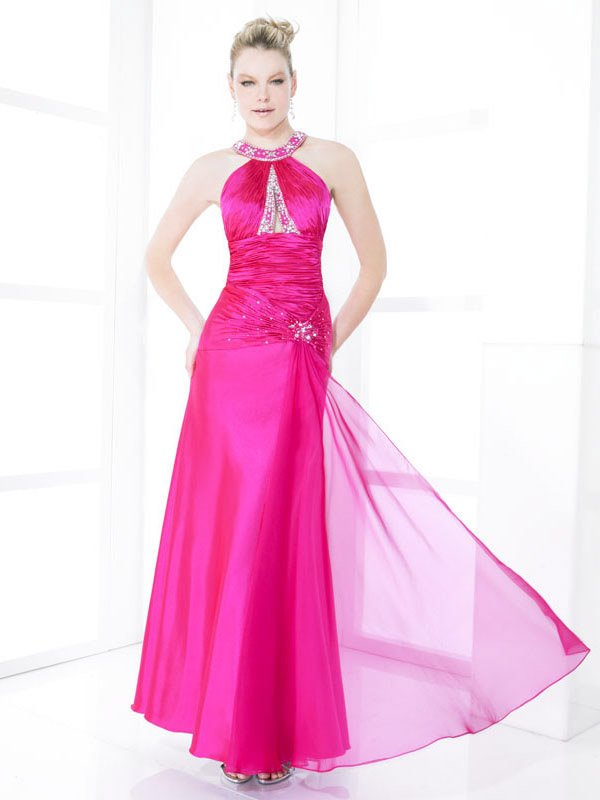 Skillfully Wraped High Neck Hollow-back Wedding Dress DS0003