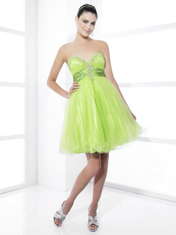 Nice Beaded Sweetheart Strapless Short Wedding Dress DS0007