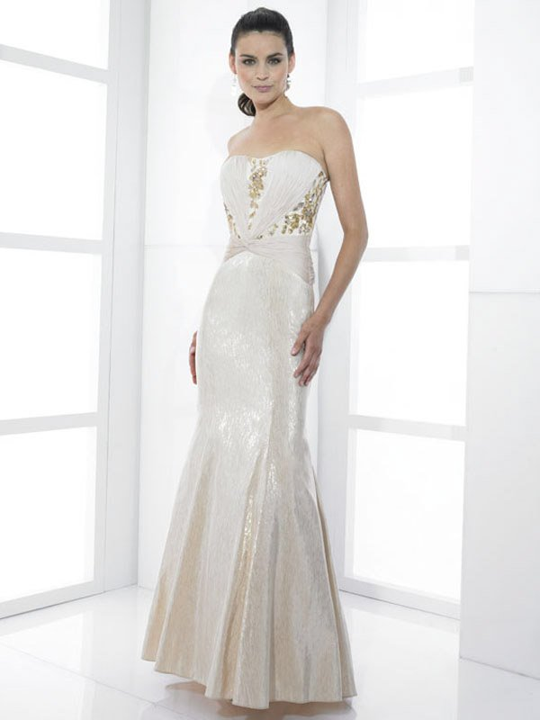 Nice Beaded Strapless Mermaid Wedding Dress DS0010