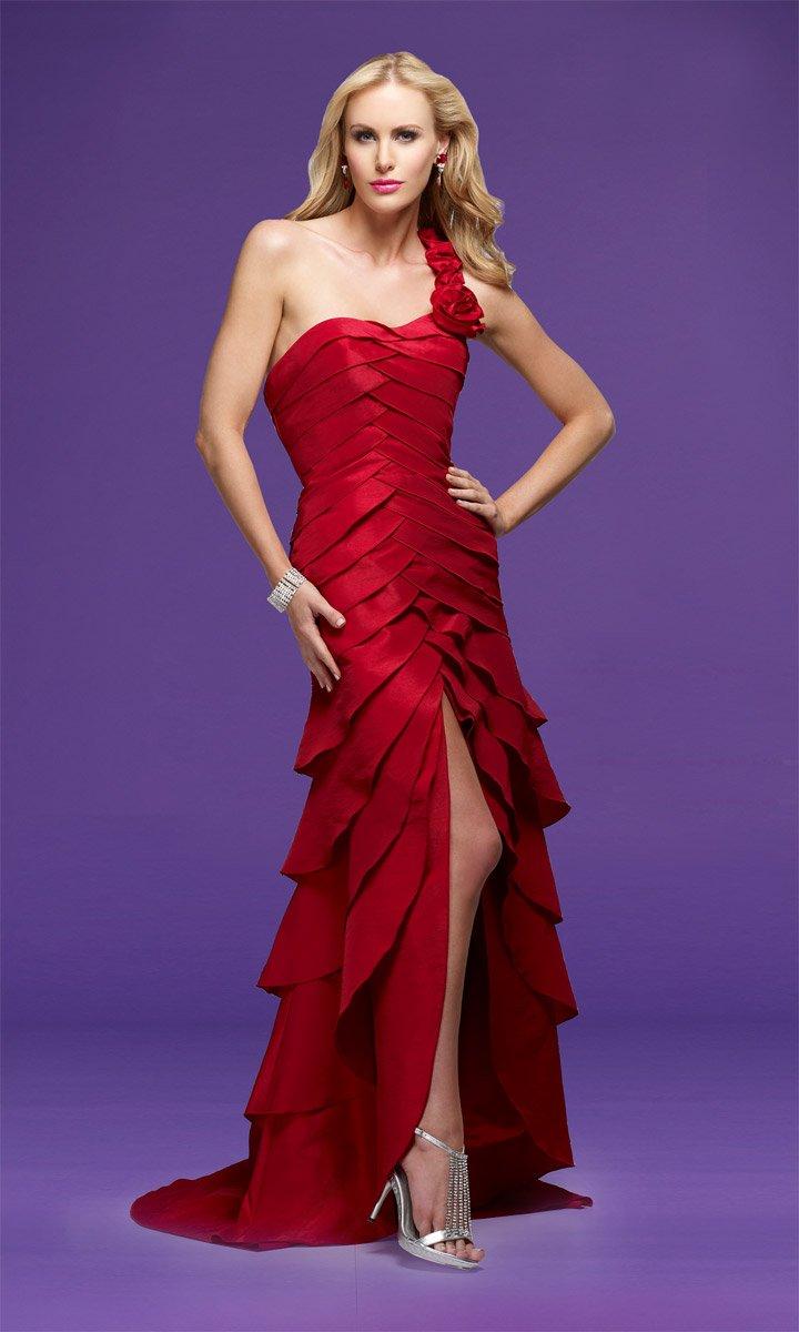 Delicate Multi-layer One-shoulder Front Slit Wedding Dress DS0012