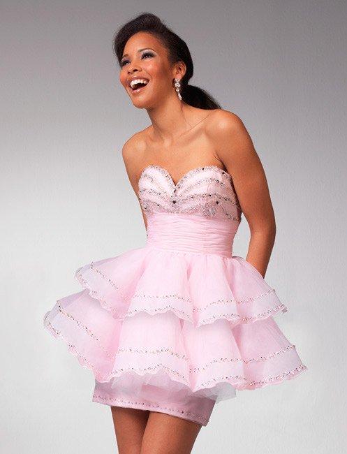 Nice Beaded Sweetheart Strapless Mini-length Wedding Dress DS0018