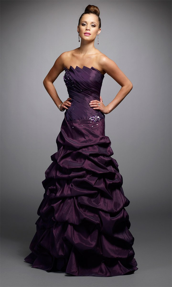 New Style Strapless Stack-up Wedding Dress DS0021