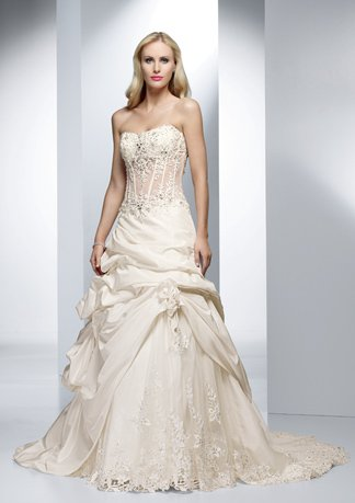New Style Sweetheart Strapless Gathered Wedding Dress AI0002
