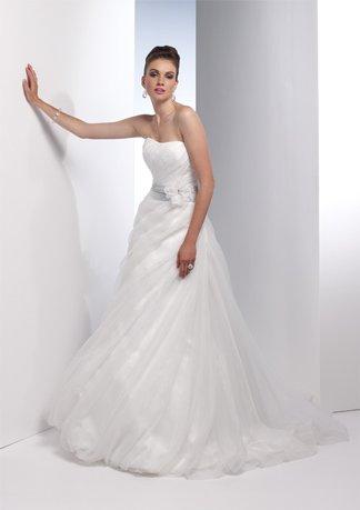 Gorgeous Asymmetrically Wraped Strapless Wedding Dress AI0005