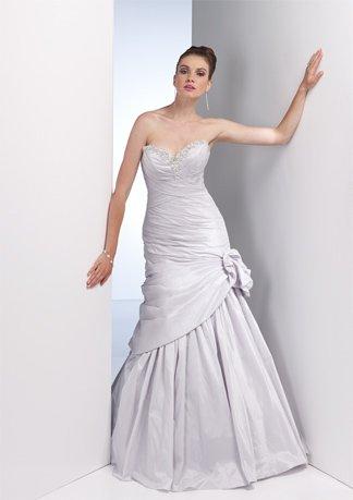 Nice Beaded Sweetheart Strapless Taffeta Wedding Dress AI0013