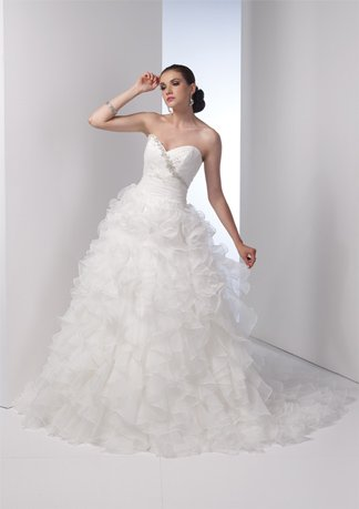 Gorgeous Sweetheart Strapless Stack-up Wedding Dress AI0017
