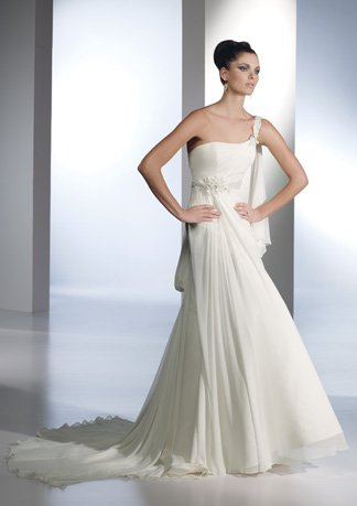 Gorgeous New Style One-shoulder Chiffon Wedding Dress AI0026