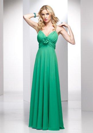 Gorgeous Spaghetti Strap Empire Chiffon Wedding Dress AI0031