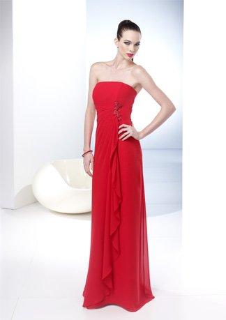 New Style Strapless A-line Chiffon Wedding Dress AI0045
