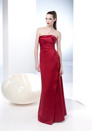Asymmetrically Wraped Strapless A-line wedding Dress AI0049